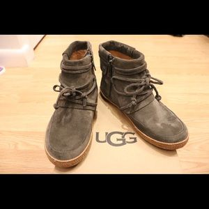 UGG Reid Moccasin Size 6 Grey Suede